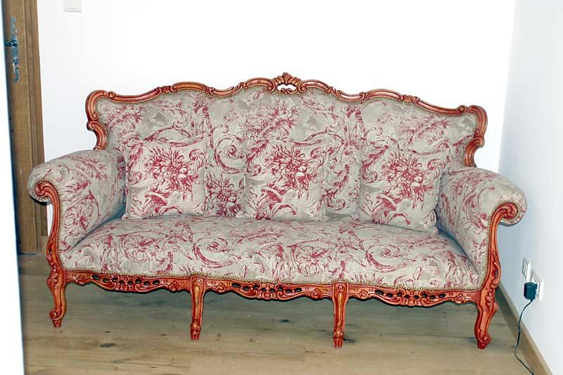 canap rococo italien style louis xv sophie et compagnie tapisserie traditionnelle peinture. Black Bedroom Furniture Sets. Home Design Ideas
